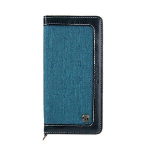 Fashion Flip Card Holder Denim Wallet For Huawei P20 Pro
