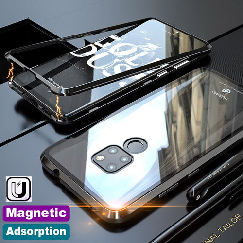 Luxury Magnetic Adsorption Metal Case For Huawei Phones