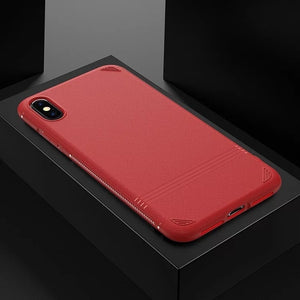 Anti-knock Soft Silicone Matte Case For iPhone's