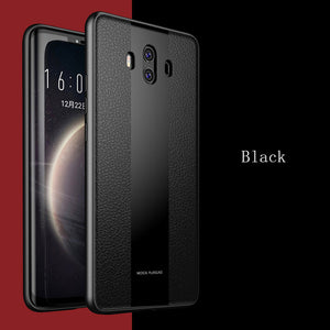 Luxury 2-IN-1 Silicone And Glass Case For Huawei Mate 10/ Mate 10 Pro