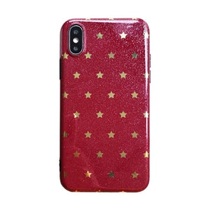 Fashion Bling Stars Glitter Soft Silicone Case For iPhone's