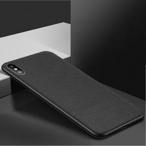 Luxury Fabric Texture Ultra Thin Silicone Case For iPhone's