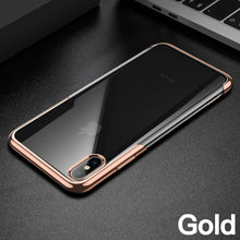 Luxury Clear Plating Case For iPhone's