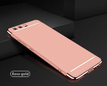 Premium 3-in-1 Frosted Shockproof Plating Case for Huawei P10