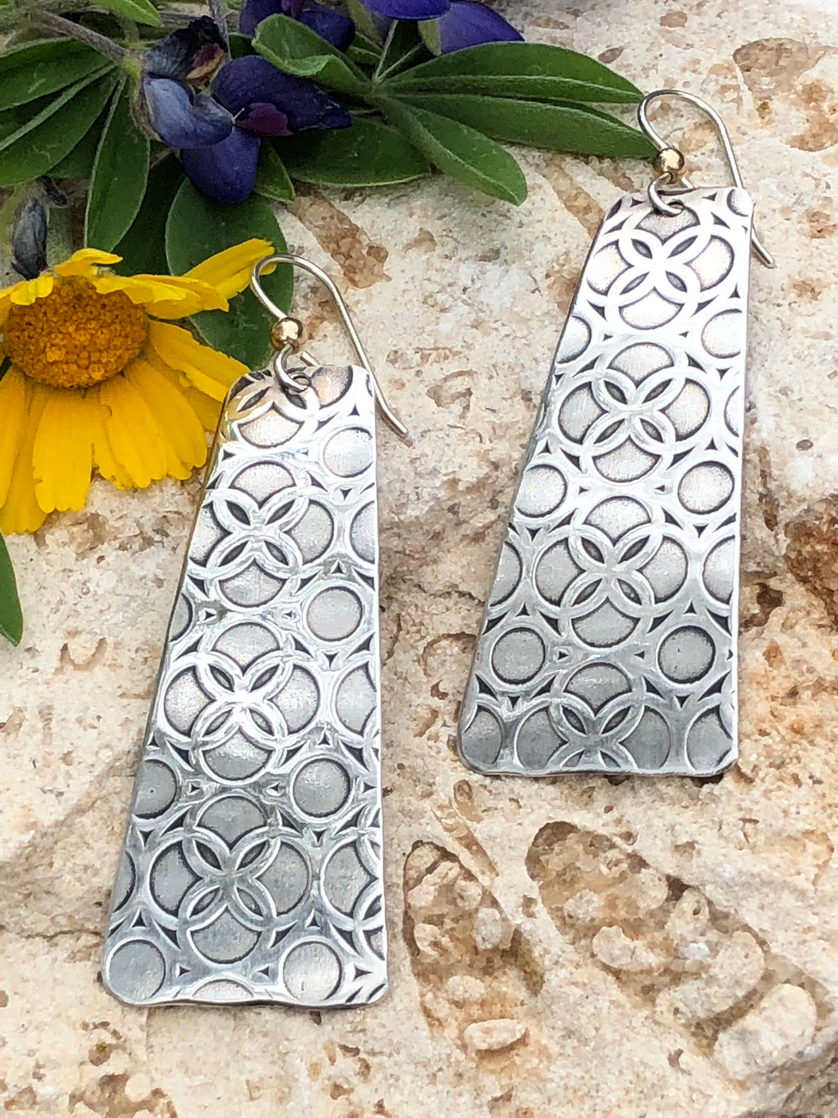 Sterling Silver Textured Earrings - $40 + $25 makerspace and materials kit fee