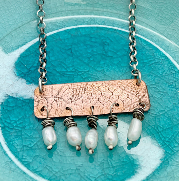 Pearl or Bead & Copper Earrings and Pendant Workshop - Instruction Fee