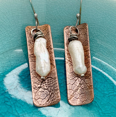 Pearl & Copper Earrings and Pendant Workshop - Instruction Fee