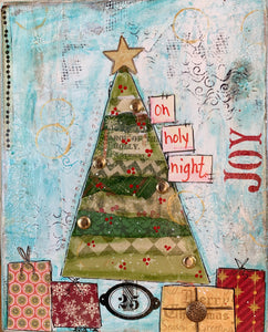 Oh, Christmas Tree - Mixed Media Canvas - Instruction Fee