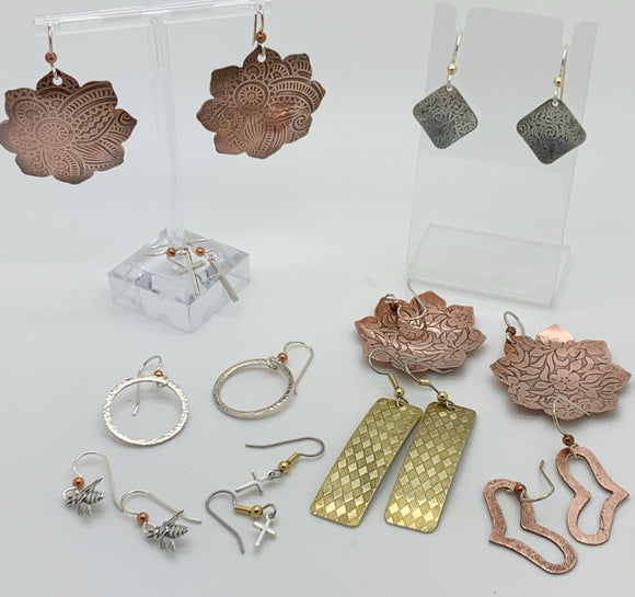 Mini Workshop - Make-and-Take Copper, brass, or Sterling Silver Earrings