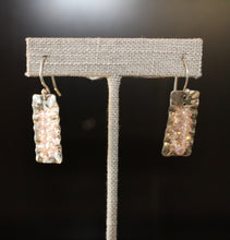 Ruffle Earrings and Pendant w/ Swarovski Crystals