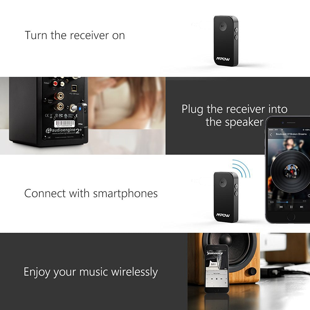 Mpow Upgraded Car Bluetooth 41 Receiver Newly Chic
