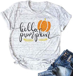 Halloween Pumpkin Costume Funny Tees Women's