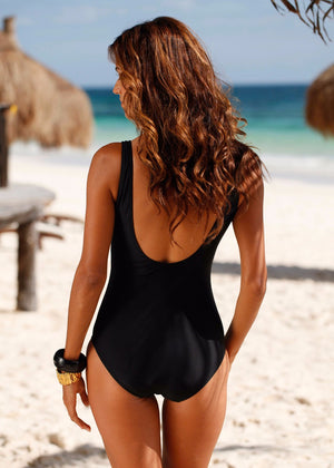One Piece Swimsuit Brazilian Bikini Set
