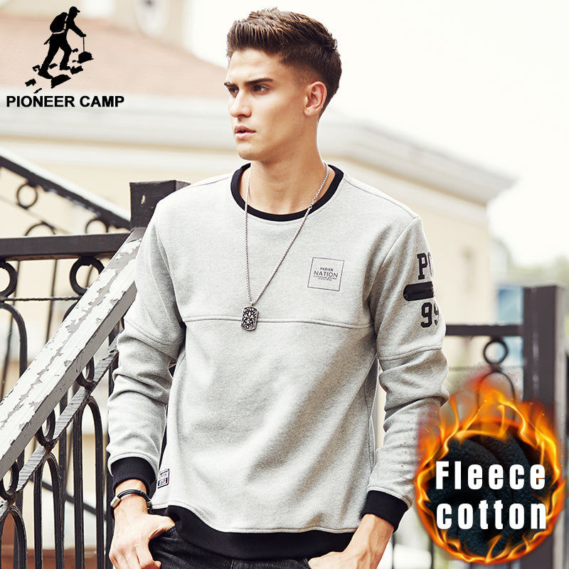 Pioneer Camp New arrival thick warm men brand autumn winter sweatshirts