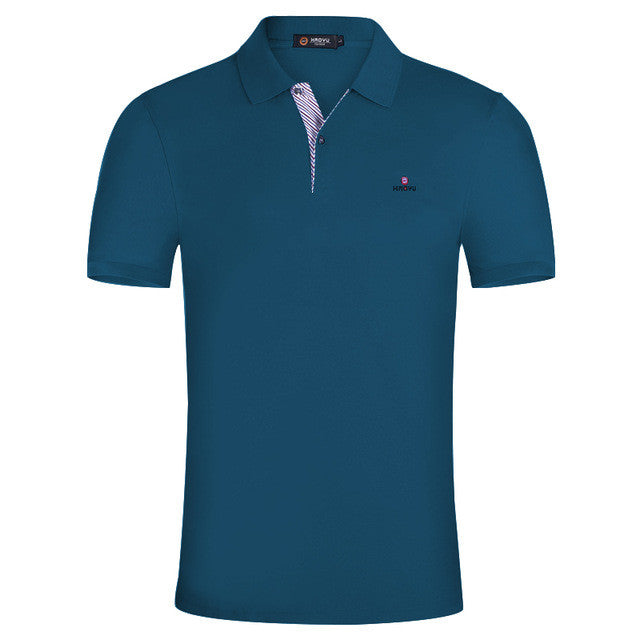 Solid Polo Shirt Men