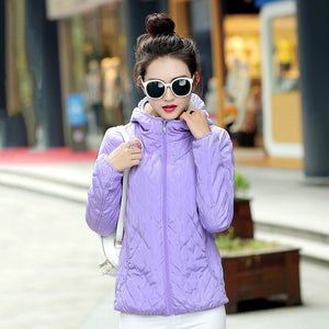 Hooded Fleece Women Winter Jacket 2017