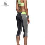 Zipper Pocket Leggings Fitness Capri Pants Reflective
