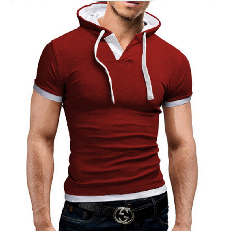 Poloshirt Men Polo Hooded