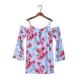 Summer Floral Blouses Cold