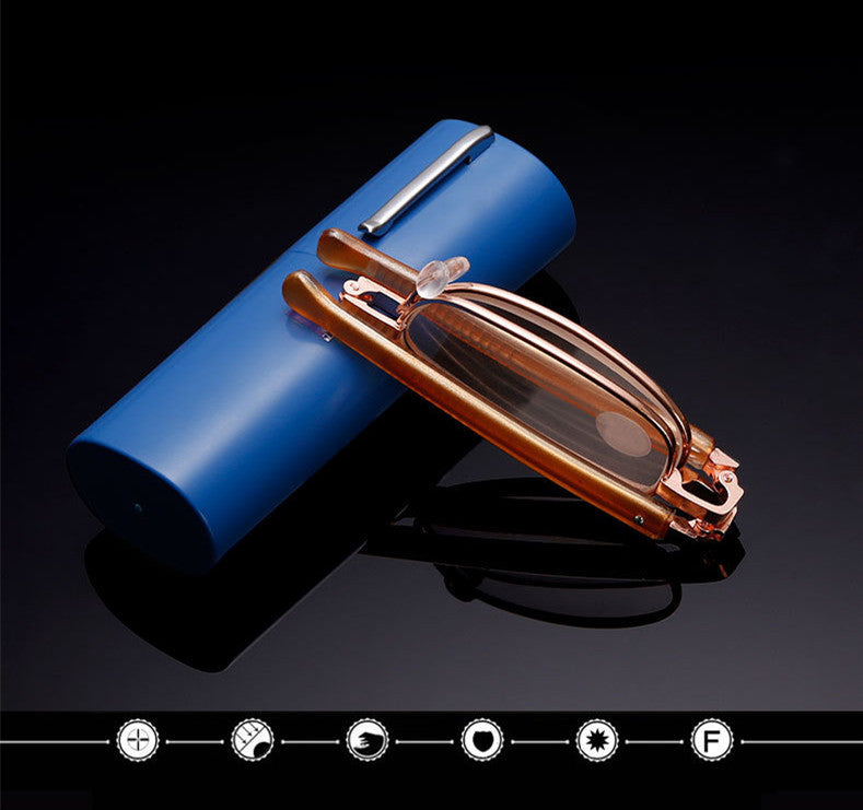 Pencil Case Portable Metal Frame Eyeglasses Women Men