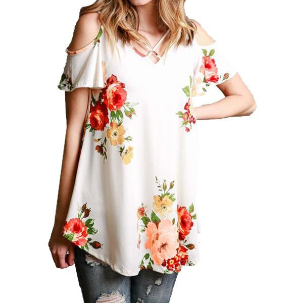 Women Floral Cold Dress