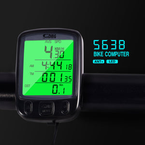 Waterproof LCD Display Bike Odometer Speedometer