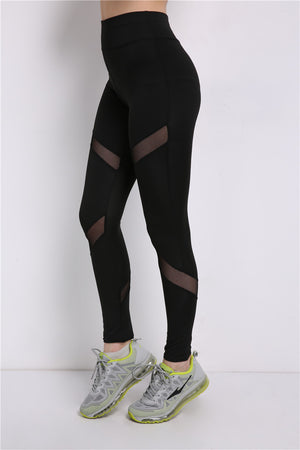 Mesh Patchwork Leggings Activewear Adventure Time