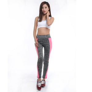 Women Activewear Pink Dark Grey Leggings Workout