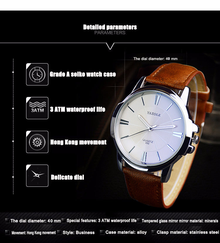 Fashion Business Men Watch 2018