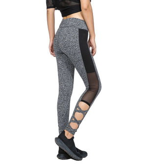 Mesh Legging Grey Leggins Black Leggings Spliced