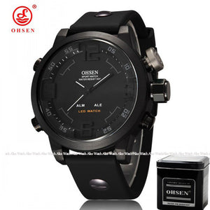 OHSEN Men's Sports Watch with gift box Military Brand Waterproof led Digital Quartz