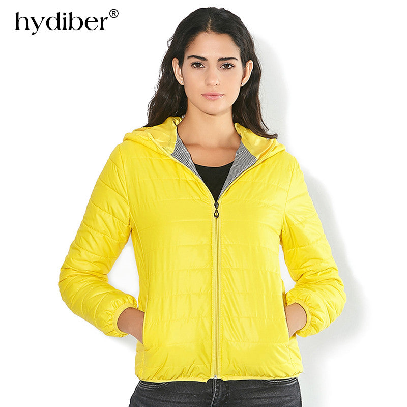 Solid Color Zipper Hooded Women Spring Jacket