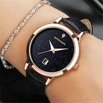 Ladies waterproof leather watch