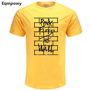 Pink Floyd The Wall Funny Print T Shirts Men's