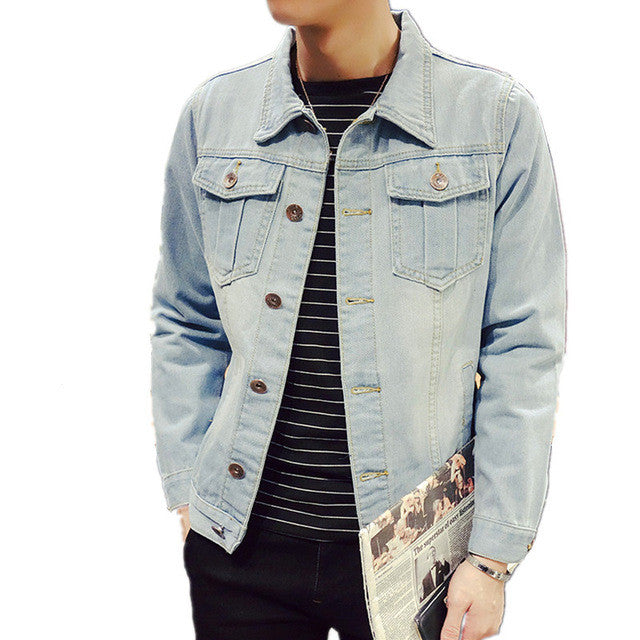 Jacket Men High Quality Cowboy Men's Jean Jacket