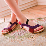 Women Sandals Shallow Sandal Ladies Mix Colors