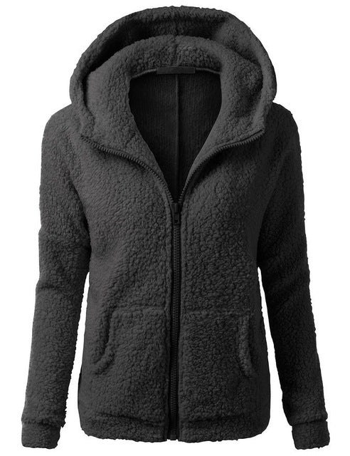 New Autumn Winter Warm Thick Solid Casual Tracksuit Women's Hoodies