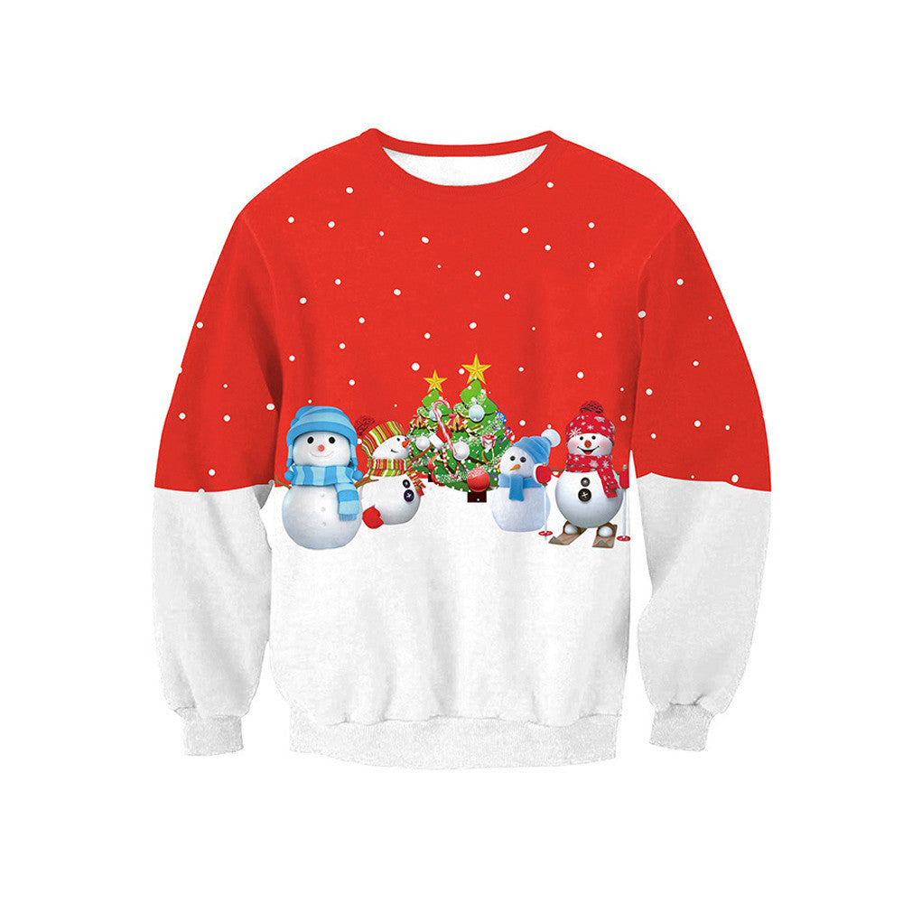 Fashion Autumn Winter Long Sleeve Women Sweatshirt Santa Claus Christmas