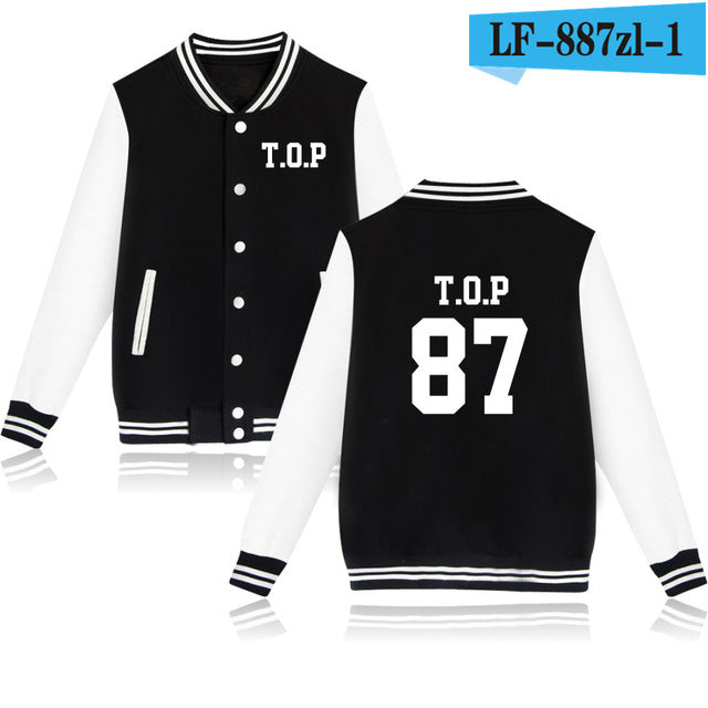 Baseball Sweatshirt Women T.O.P G-dragon