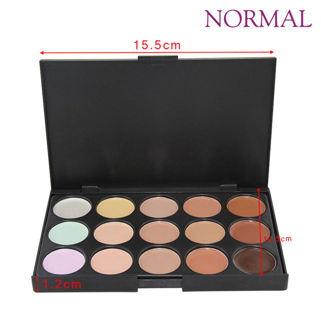 Palette Makeup 15 Colors Cream Base