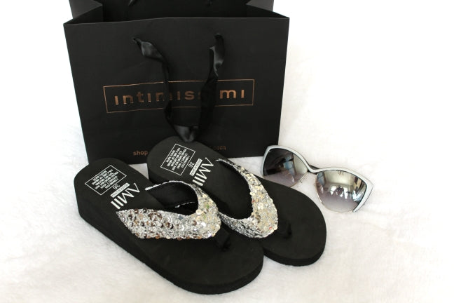 Sliver Summer Sandals Wedge Flip Flops