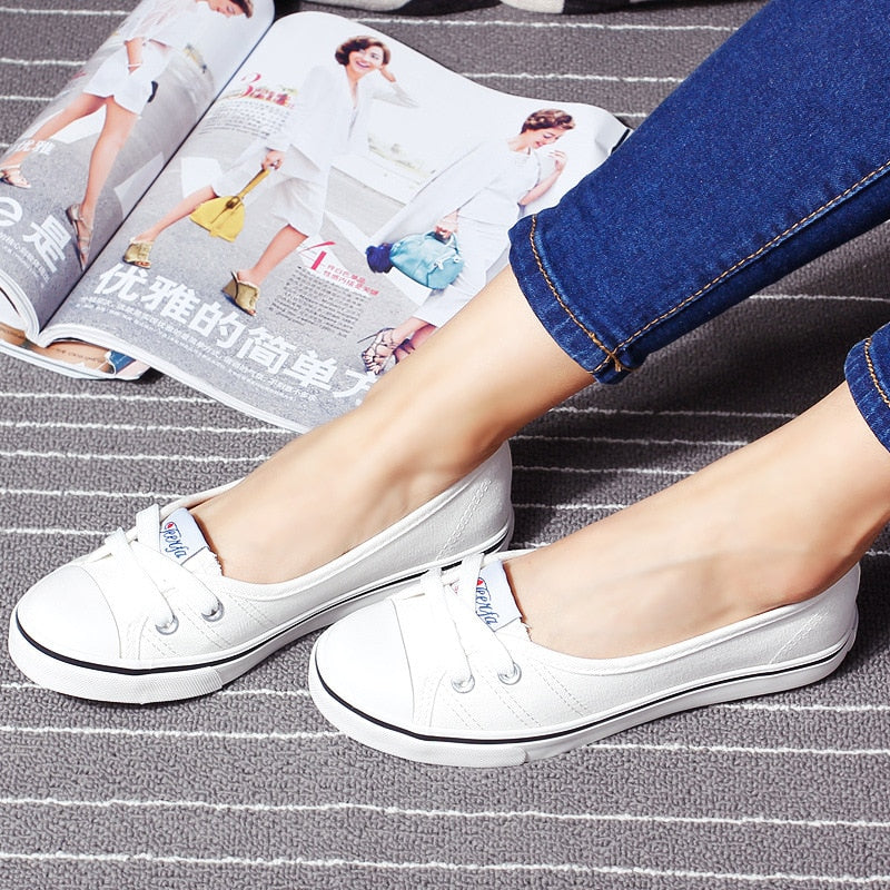 New Chic Lace Up Shoes Slip On Flats