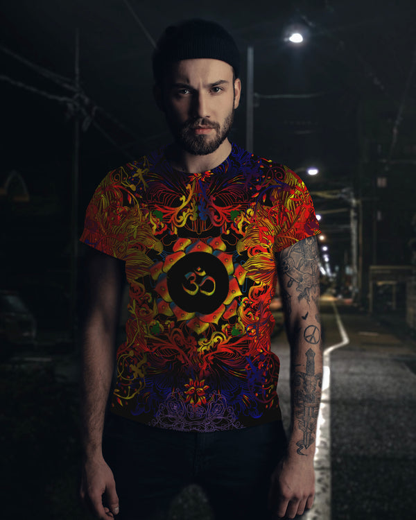 Mandala Fire Om Men's T-Shirt