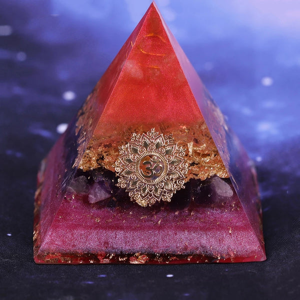 Energy OM Orgonite Natural Gemstones Pyramid