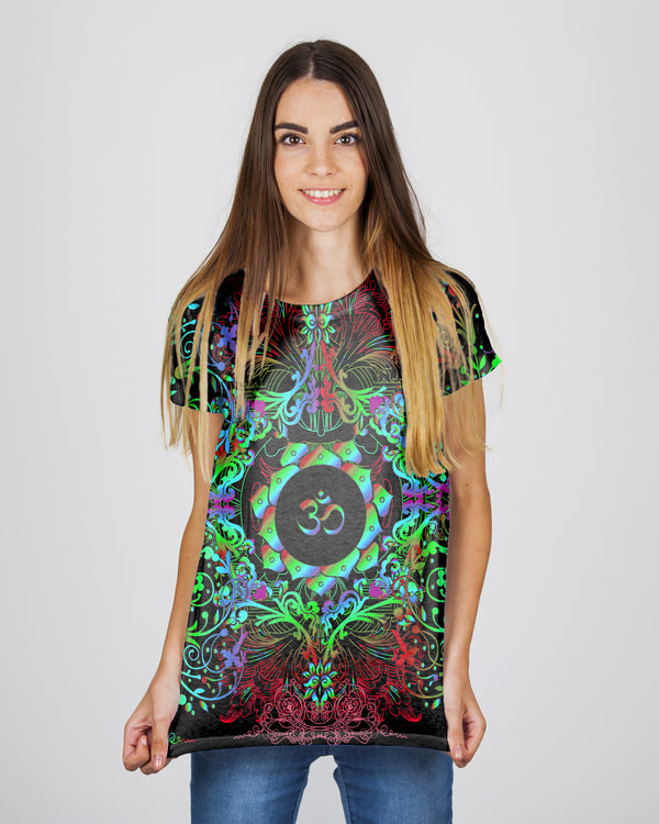 Mandala Greeny Om Women's T-Shirt