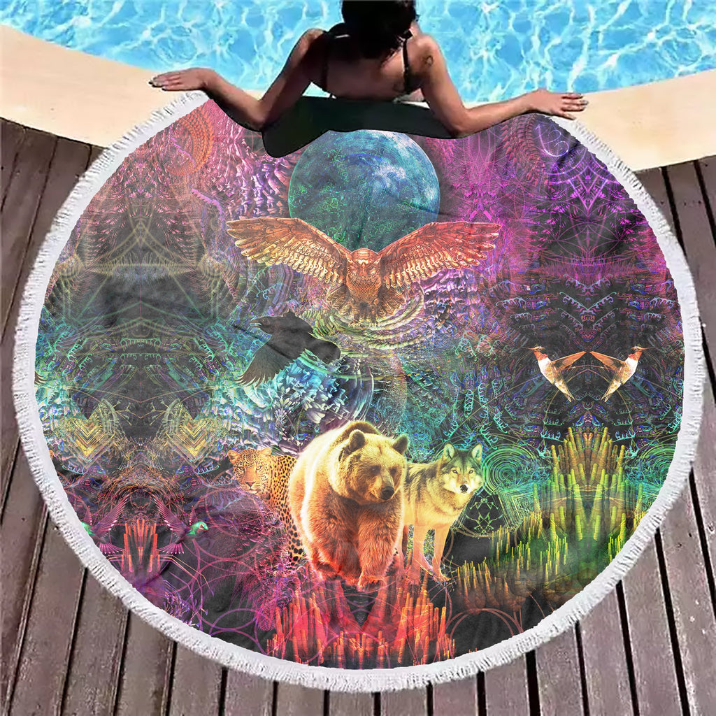 Animal Spirit Beach Blanket - ShantiBanti