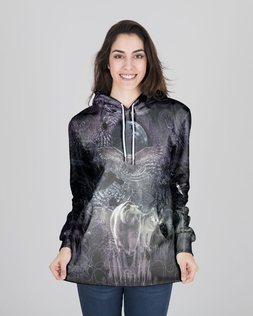 Animal Spirit B&W Women's Hoodie - ShantiBanti