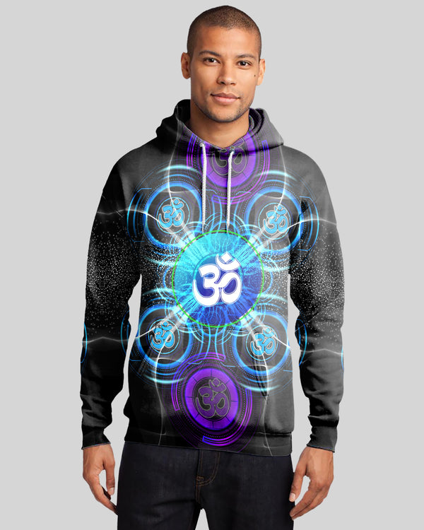 Blue Eye Jedi OM Men's Hoodie