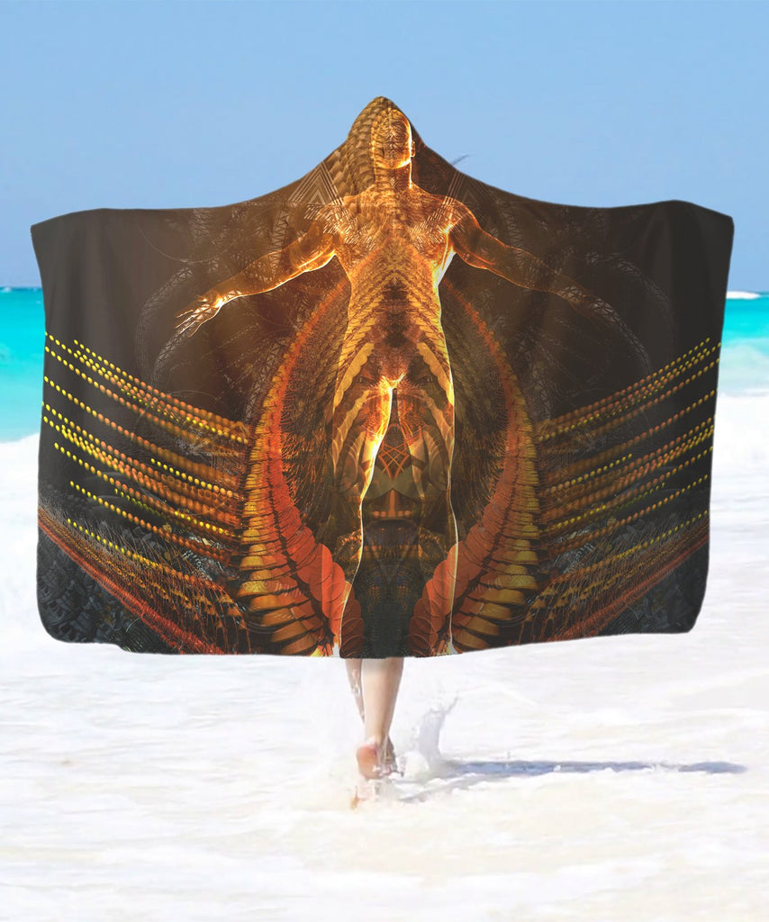 Burning Men Hooded Blanket - ShantiBanti