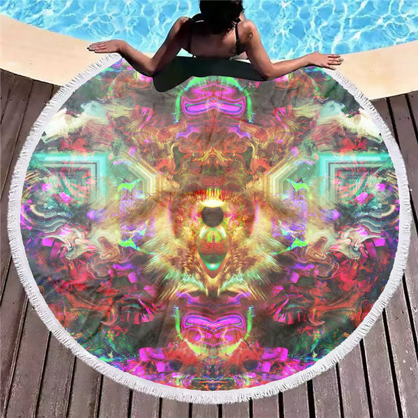 DMT Eye Beach Blanket - ShantiBanti